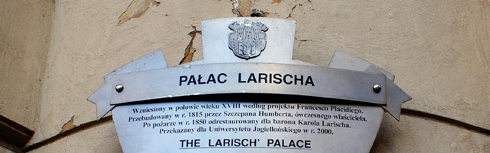 Palac Larischa tabliczka