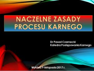 Zasady procesowe – wprowadzenie